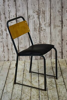 Vintage Industrial Stacking Cafe Bar Restaurant School Chair (20 Available)