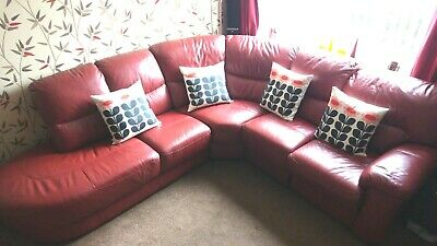 Phenomenal Red Leather Corner Sofa Dfs 500 00 Picclick Uk Alphanode Cool Chair Designs And Ideas Alphanodeonline