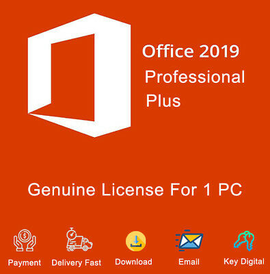 Office 2019 Pro Plus 32/64bit Activation License Genuine  For 1 PC