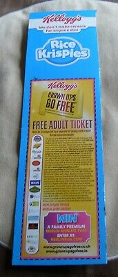 Kellogg's Grown Ups GO FREE Voucher Merlin Attractions Legoland Alton Towers