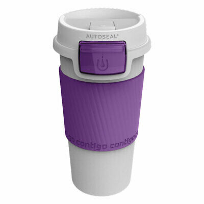 Contigo Morgan 355ml Purple Plastic Autoseal Spill Leak Proof Travel Thermo Mug