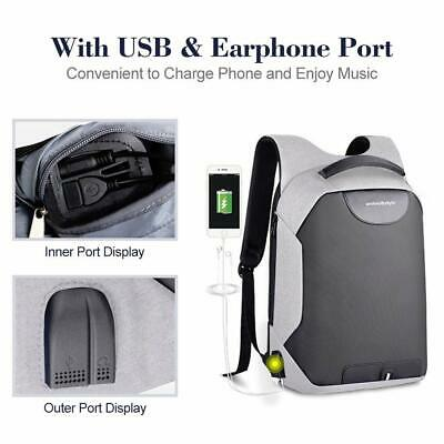 Anti-theft Backpack With USB Charging Port Shoulder Strap For College School Bag