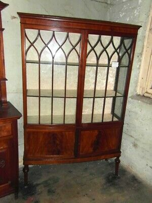 Quality Mahogany Bow Fronted  Display Cabinet