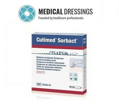 Cutimed Sorbact Antimicrobial Swabs | Choose Size & Quantity | TRUSTED UK SELLER