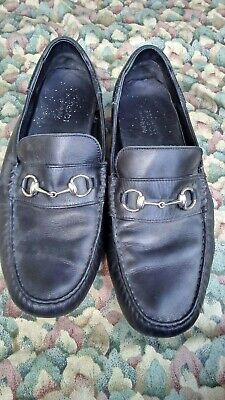 9d0750e7c Gucci Black Driving Loafer Horsebit Buckle Mens Size 12 Made In Italy Free  Ship