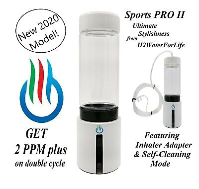 HYDROGEN WATER H2+ bottle with SPE and PEM Dual chamber REFURBISHED
