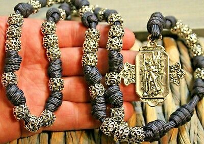 Heavy ST MICHAEL CHAPLET Paracord Unbreakable Rosary DC 453