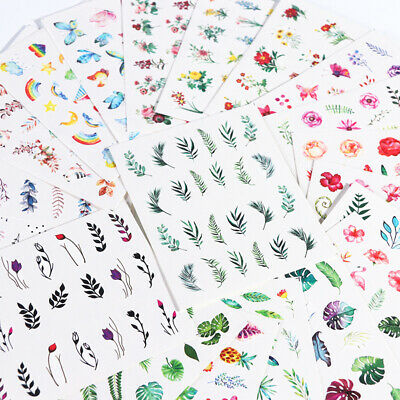 Nail Art Water Decals Flower Summer Theme Transfer Stickers Nail Decorations