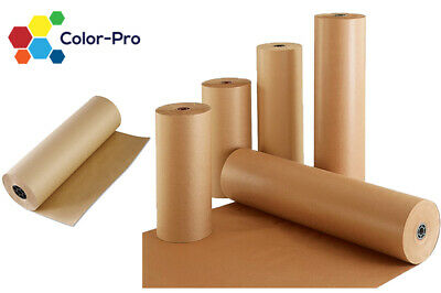 600MM x 100M STRONG BROWN KRAFT PAPER ROLL PARCEL PACKAGING WRAPPING 88GSM