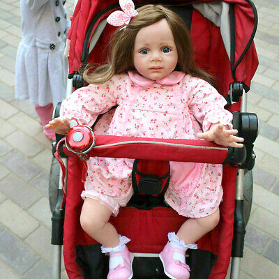 "24"" Toddler Reborn Baby Dolls Realistic Vinyl Silicone Girl Doll Newborn Gifts"