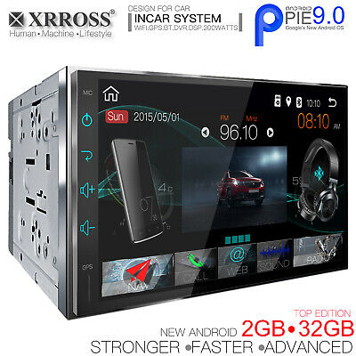 XRROSS Android 9.0 Car audio player auto radio  GPS Wifi BT Double Din 2GB+32GB