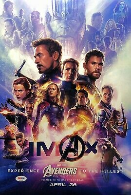 19F151 Avengers Endgame Signed Movie 2019-Art Silk Cloth Wall Poster