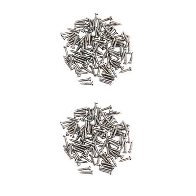 200Pieces Tuning Peg Tuner Mounting Screws for Guitar Bass Parts Nickel Part