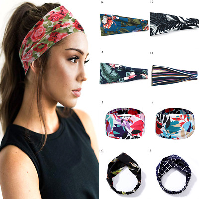 Headband SPA Wide Elastic Hair Bands Hair Ties Sweatband Sport Yoga Headwrap Hot