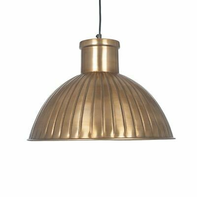 Industrial Design Antique Hammered Brass Rib Metal Dome Pendant Light Fitting