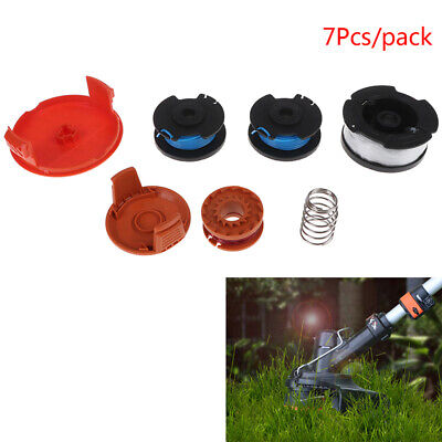 7 Pack Line String Trimmer Replacement Auto-Feed Spool for WORX BLACK.