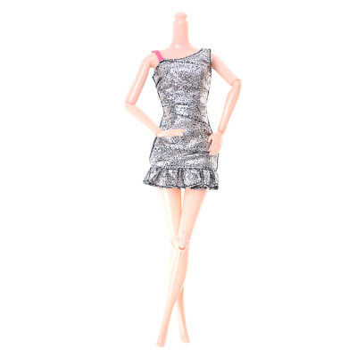 1PC Beautiful Doll Silver Dress Clothes  Doll 1/6 Dolls Party Accessories JS