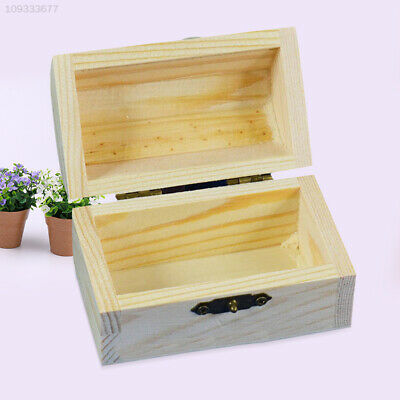 0380 Vintage Wooden Box Container Jewellery Keepsake Trinket Personalized Gift