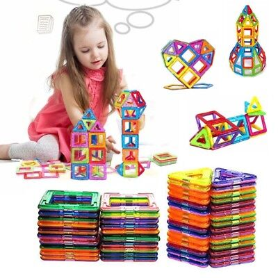 100pcs Magnetic Building Blocks Toy Set 3D Tiles DIY Toys Gift for Kids Children
