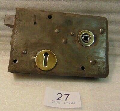 Antique Brass And Steel Rim Door Lock  27