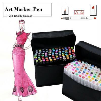 Marker Pen 80 Color Set Graphic Art Sketch Twin Point Broad Point Copic Touch AU