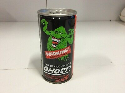 Vintage 1989 Coca Cola Ghostbusters Ghost in a Can Steel Can