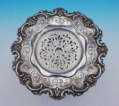 Sterling Silver Butter Dish Chased Pierced #2498 Made For Tiffany and Co (#3402)