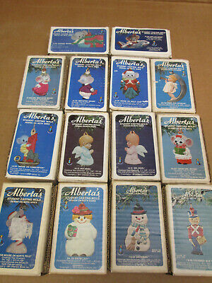 """(14) Alberta's Christmas Ornaments Molds Lot""  Ceramic Student Casting Molds"
