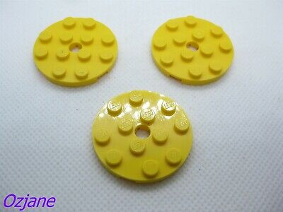 Dark Brown x4 60474 Lego Plate Round Full Circle 4x4
