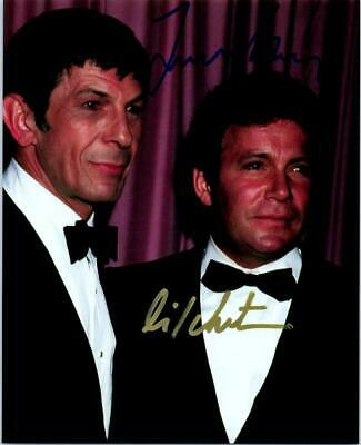 William Shatner Leonard Nimoy 8x10 autographed signed 8x10 photo picture and COA