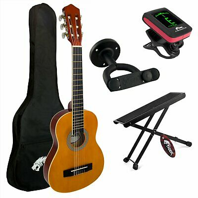 Tiger 4/4 Size Classical Guitar Package with Accessories