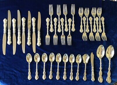 Strasbourg by Gorham Sterling Silver Flatware Place Size Set 8 Service 36 Pieces