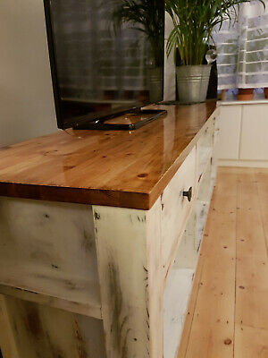 TV Stand Shabby Chic style beautiful heavy piece of furniture 200cm x 49cm x 67