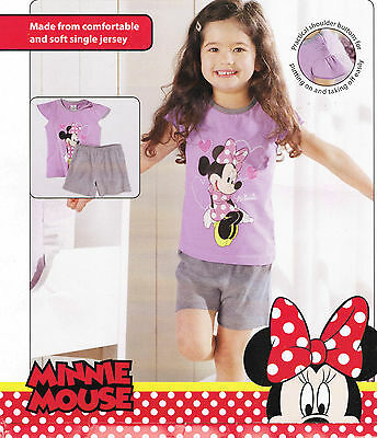 Girls lilac and grey Minnie Mouse shortie pyjamas set from Disney age 12-24 mth