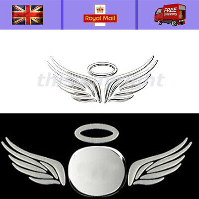 Self Adhesive Chrome Effect Angel Halo Car Badge Decals Stickers 3D logo decal