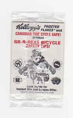 1993 kellogg's frosted flake & Canadian Tire Cycle safe (Coupon Offer) (A126)