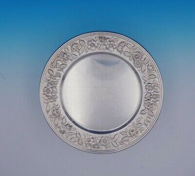Repousse by Kirk Sterling Silver Charger Plate Hand Decorated #30F (#3408)