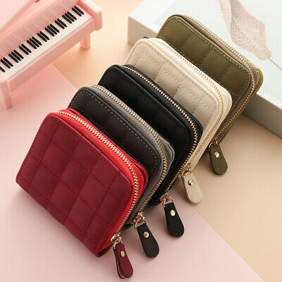 Coin Purse Leather Bifold Small Handbag Zipper Clutch Women's Short Wallet