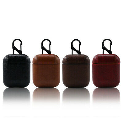 Genuine Leather Airpods Case Earphone Protective Skin Cover For Apple AirPod