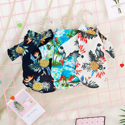 JAP Pet Dog Hawaiian Shirt Beach Clothes Vest Floral Printed For Small Large Dog