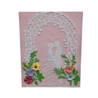 DIY Metal Cutting Dies Stencil for Scrapbooking Card Craft Bridal Couple Door MA