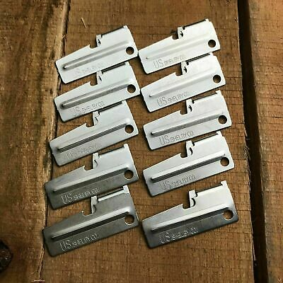 10 Pc Lot US Shelby Original Military Issue P-38 Survival Can Opener P38 New