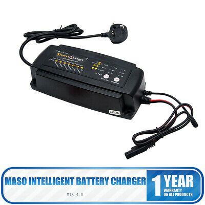 Automatic Smart 12 V 2/4/8 A Car Battery Charger Lead-acid Van Boat Truck UK