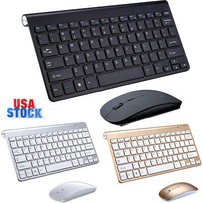 Wireless Keyboard Mouse Slim For Android Windows iOS Tablet PC Desktop Mac 2.4G