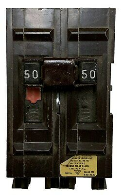 50 Amp Circuit Breaker, Wadsworth WA250, 2-Pole