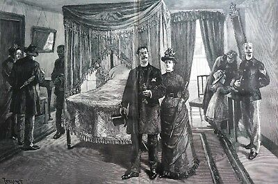 Mount Vernon 1886 ROOM WHERE GEORGE WASHINGTON DIED Bedroom Tour Large Print