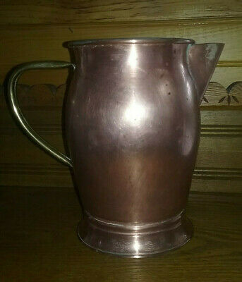 """Vintage DOURO Copper Brass Handled Pitcher  Pot Made in Portugal 8"""""""