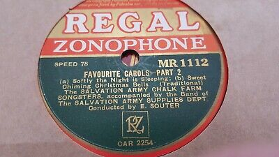 The Salvation Army Chalk Farm Songsters Favourite Carols Regal Zonophone Mr1112