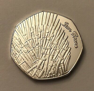 GOT Medal Token Game Of Thrones With COA Like Kew Or Brexit 50p Shaped Coin Hunt