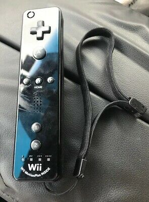 Official Nintendo Wii Remote Black Motion Plus Controller Wiimote OEM